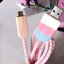 זול חוט נורות לד-גלידה יפה לחייב כבל מגן עבור iPhone x 5/6/7 / 8plus