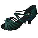 povoljno Cipele za latino plesove-Žene Plesne cipele Sintetika Cipele za latino plesove Štikle Kubanska potpetica Moguće personalizirati Zelen