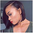 Недорогие Парики из натуральных волос на кружевной основе-человеческие волосы Remy Полностью ленточные Парик Стрижка боб стиль Бразильские волосы Естественный прямой Нейтральный Черный Парик 130% 150% Плотность волос