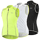 cheap Cycling Jerseys-Arsuxeo Women's Cycling Vest White Black Green Solid Color Bike Vest / Gilet Windproof UV Resistant Quick Dry Reflective Strips Back Pocket Sports Solid Color Mountain Bike MTB Road Bike Cycling