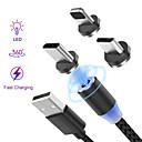 povoljno Kablovi i Punjač-Rasvjeta Kabel 1.0m (3ft) U obliku pletenice / S magnetom / LED Najlon / Netkani / svjetlećim USB kabelski adapter Za iPad / iPhone