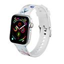 זול כיסויים-רצועה סיליקון רך עבור iwatch רצועה תפוח שעון הלהקה 1/2/3/4 סדרת הדפוס פרח iwatch 40mm / 44mm / 38mm / 42mm