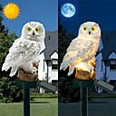 זול אורות נתיב-1pc הוביל גן אורות השמש ינשוף הצורה אורות הלילה השמש מופעל הדשא מנורה בית גן יצירתי מנורות השמש
