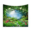 cheap Game Consoles-Garden Theme / Floral Theme Wall Decor 100% Polyester Modern Wall Art, Wall Tapestries Decoration