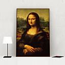 olcso Bekeretezett műalkotások-Nyomtatott művészeti alkotások Bekeretezett vászon Nyomatok - Emberek Polisztirén Olajfestmény Wall Art