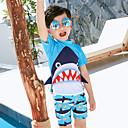 זול בגדי ריקוד לילדים-בגדי ים כותנה גיאומטרי בנים ילדים