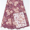 זול תלבושות אתניות ותרבותיות-תחרה אפריקאית פרחים תבנית 125 cm רוחב בד ל ירח דבש נמכר דרך 5 יארד