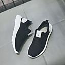 זול מגפי נשים-בגדי ריקוד נשים רשת אביב קיץ יום יומי נעלי אתלטיקה ריצה שטוח בוהן עגולה לבן / שחור