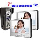 Недорогие IP-камеры для помещений-815m12 ультратонкий 7-дюймовый проводной видео дверной звонок HD вилла видео домофон наружный блок ночного видения функция разблокировки дождя