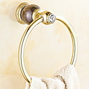 זול מוטות למגבות-מתלה מגבת עיצוב חדש / מגניב מודרני פליז 1pc טבעת מגבת מותקן על הקיר