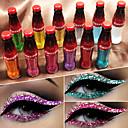 hesapli Göz Kalemi-Marka cmaadu renkli flaş parlak glitter toz eyeliner su geçirmez pul göz farı sıvı göz kozmetik