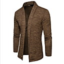 זול סטים של חולצות ומכנסיים\שורטים לרכיבת אופניים-US36 / US38 / US42 חום / אפור כהה / אפור בהיר צווארון V פוליאסטר, קרדיגן רגיל שרוול ארוך אחיד בגדי ריקוד גברים