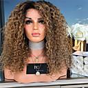 povoljno Sintetičke perike s čipkom-Sintetičke perike Tijelo Wave Stil Srednji dio Machine Made Perika Zlatna Blonde Sintentička kosa 26 inch Žene Žene Zlatna Perika Dug