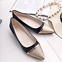 hesapli Kadın Babetleri-Kadın's Ayakkabı PU İlkbahar & Kış Düz Ayakkabılar Düz Taban Günlük için Siyah / Bej