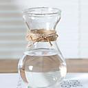 זול אדרטלים & סל-1pc אגרטלים וסל צורה לא סדירה זכוכית אגרטל שולחן