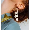 זול קבקבים לנשים-בגדי ריקוד נשים עגילי טיפה מַטְבֵּעַ פשוט ארופאי אופנתי עגילים תכשיטים זהב / כסף עבור Party יוֹם הַשָׁנָה מתנה יומי שלב זוג 1