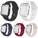 Недорогие Умные браслеты-SmartWatch группа чехлы для Apple Watch серии 4/3/2/1 Apple силиконовой лентой силиконовые чехлы iwatch мода мягкий спортивный ремешок