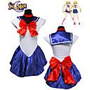 povoljno Anime kostimi-Inspirirana Sailor Moon Cosplay Anime Cosplay nošnje Japanski Cosplay Suits Jednobojni Bez rukávů Haljina / Rukavice / Šeširi Za Žene / Neckwear