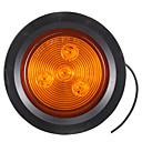 זול רכב הגוף קישוט והגנה-4pcs משאית הקרוואן אזהרה אור 2.5 סיבוב בצד סמן סיקול אור 4led 12v