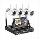 זול ערכות NVR-4ch 960p עם מסך 7lcd אלחוטית nvr ערכת אבטחה מערכת מצלמת cctv