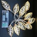 ราคาถูก สายไฟ LED-3M ไฟสาย 20 ไฟ LED ขาวนวล ตกแต่ง 3 V 1set