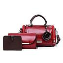 hesapli Çanta Setleri-Kadın's Çanta Setleri PU Tek Renk 3 Adet Çanta Seti Siyah / YAKUT / Kahverengi