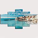 halpa Tulosteet-Painettu Pingoitetut kanvasprintit - Maisema Perinteinen Moderni 5 paneeli Art Prints