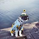 abordables Ropa para Perro-Gato Perro Camiseta Ropa para Perro Azul Algodón Disfraz Para Verano Cosplay Boda