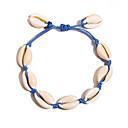 abordables Bague-Bracelet d'amitié Femme Tropical Coquillage Décontracté / Sport Bracelet Bijoux Rouge Bleu Bleu clair pour Quotidien Vacances