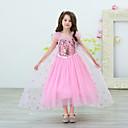 hesapli Film & TV Temalı Kostümleri-Prenses Elbiseler Genç Kız Film Kostümleri Desen Elbise Mavi / Pembe Elbise Çocukların Günü Maskeli Balo Karışık Materyal