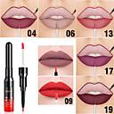 זול מכשירי אידוי לארומתרפיה-חדש סופר 20 צבע פעמיים ראש לחות מאט ארוך טווח שפתים שפתון שפתון שפתון עם שפתון אניה