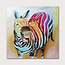 hesapli Hayvan Resimleri-Hang-Boyalı Yağlıboya Resim El-Boyalı - Hayvanlar Pop Art Modern Iç çerçeve olmadan