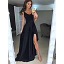 זול שמלות שושבינה-גזרת A צלילה א-סימטרי סאטן ערב רישמי שמלה עם שסע קדמי על ידי JUDY&JULIA