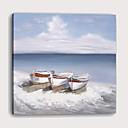 halpa Tulosteet-Painettu Pingoitetut kanvasprintit - Maisema Laiva Moderni Art Prints