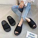 cheap Women's Flats-Women's Slippers & Flip-Flops Flat Heel PU(Polyurethane) Summer Black