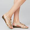 hesapli Kadın Sandaletleri-Kadın's Sandaletler Düşük Topuk Burnu Açık Perçin Süet İngiliz Bahar Beyaz / Siyah / EU40