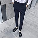 זול מכנסיים ושורטים לגברים-בגדי ריקוד גברים בסיסי חליפות מכנסיים - פסים כחול נייבי חום בהיר אפור בהיר US40 / UK40 / EU48 US42 / UK42 / EU50 US44 / UK44 / EU52