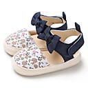 זול סנדלים לילדים-בנות צעדים ראשונים קנבס שטוחות תינוקות (0-9m) / פעוט (9m-4ys) לבן / ורוד / שקד אביב / קיץ