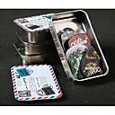 halpa Soitintarvikkeet-Alice - (a011a) suorakaiteen muotoinen teräksestä poimii laatikko 24 poimii (random väri)