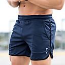 זול בגדי ריצה-בגדי ריקוד גברים # שורט לריצה מכנסיים קל משקל נושם רך צבע אחיד / סטרצ'י (נמתח)