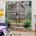 זול שטיחים-אמנות בסגנון איכותי 100% פוליאסטר האפלה וילון בד בד עבה עמיד למים וילון מקלחת / בידוד קול עבור חדר אמבטיה / וילונות בסלון