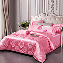 cheap Floral Duvet Covers-Duvet Cover Sets Floral / Botanical Cotton Jacquard 4 PieceBedding Sets