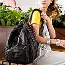 Χαμηλού Κόστους Σακίδια-Γυναικεία Φερμουάρ σακκίδιο Μεγάλη χωρητικότητα PU Μαύρο