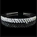 hesapli Saç Mücevheri-Kadın's Zarif Prenses Kübik Zirconia Gümüş Kaplama alaşım Solid