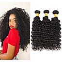 povoljno Ekstenzije na kopču-3 paketa Brazilska kosa Kinky Curly Remy kosa Ljudske kose plete 8-28 inch Isprepliće ljudske kose Proširenja ljudske kose / 10A