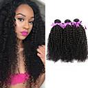 お買い得  人毛つけ毛-3バンドル ブラジリアンヘア Kinky Curly 10A バージンヘア 人間の髪編む 8-28 インチ 人間の髪織り 人間の髪の拡張機能 女性用 / その他の特徴カーリー
