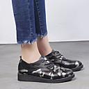 hesapli Kadın Oxford Ayakkabıları-Kadın's Oxford Modeli Düz Taban PU İlkbahar & Kış Siyah / Yeşil