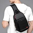 hesapli Erkek Çocuk Çantaları-Erkek Fermuar Oxford Bezi / Polyester Sling Omuz Çantaları Siyah