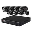 povoljno AHD oprema-4 kanalni 1mp poslovni i dom cctv sigurnosne kamere sustav nadzora ahd-dvr s 4 1080n boja noćni vid metak kamere