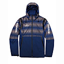 cheap Softshell, Fleece & Hiking Jackets-VAPAUS® Men's Solid Color Hiking Jacket Outdoor Autumn / Fall Spring Windproof Warm Front Zipper Comfortable Top Single Slider Climbing Camping / Hiking / Caving Traveling Red / Blue